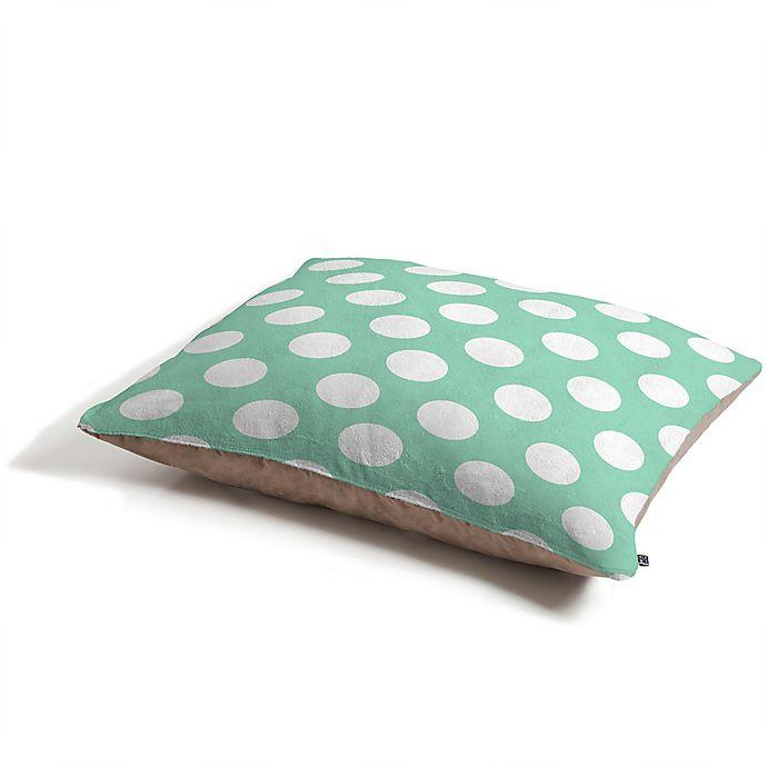 Alternate image 1 for Deny Designs Polka Dot by Allyson Johnson Pet Bed in Mint