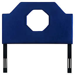 TOV Furniture Noctis Full Velvet Headboard in Navy
