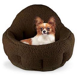 Precious Tails Large Sherpa Deep Dish Cuddler Pet Bed