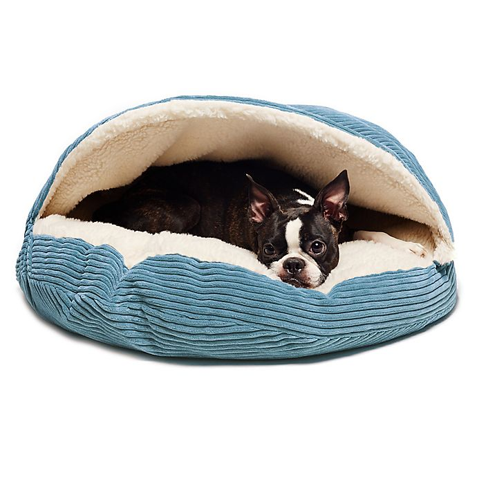 Alternate image 1 for Precious Tails Cozy Corduroy Sherpa Pet Cave Bed
