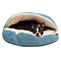 Precious Tails Cozy Corduroy Sherpa Pet Cave Bed