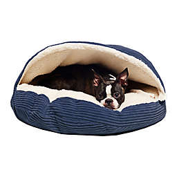 Precious Tails 35-Inch Pet Cave Bed in Navy Corduroy