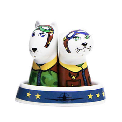 Multiple Choice Fly Me To The Moon3-Piece Salt & Pepper Tray Set