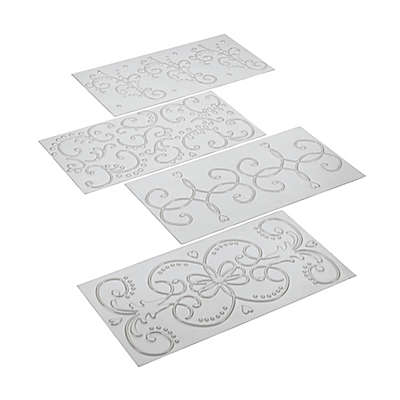 Cake Boss® Decorating 4-Piece Fondant Imprint Mat Set
