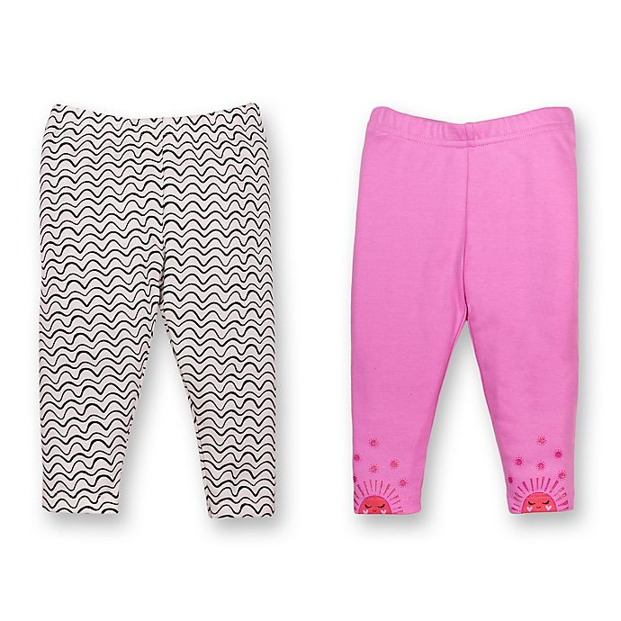 Alternate image 1 for Lamaze® 2-Pack Organic Cotton Pants in Pink