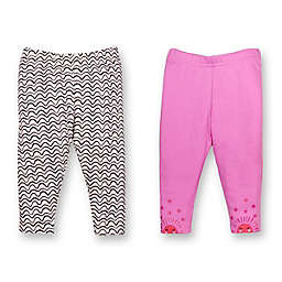 Lamaze® Newborn 2-Pack Sun Print Organic Cotton Pants in Pink