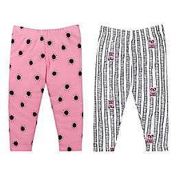 Lamaze® 2-Pack Organic Cotton Pants in Pink Dot/Black Stripe