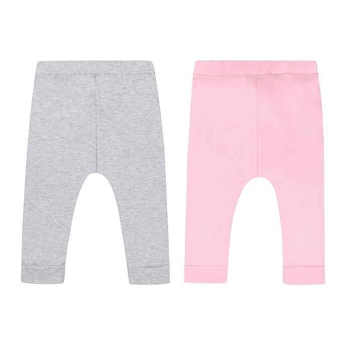 Alternate image 1 for Lamaze® 2-Pack Organic Cotton Pants in Grey/Pink