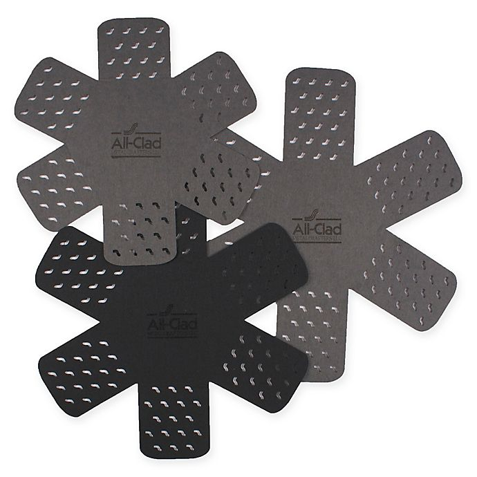 Alternate image 1 for All-Clad 3-Pack Cookware Protectors in Pewter/Black