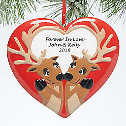 Forever In Love Personalized Reindeer Christmas Ornament