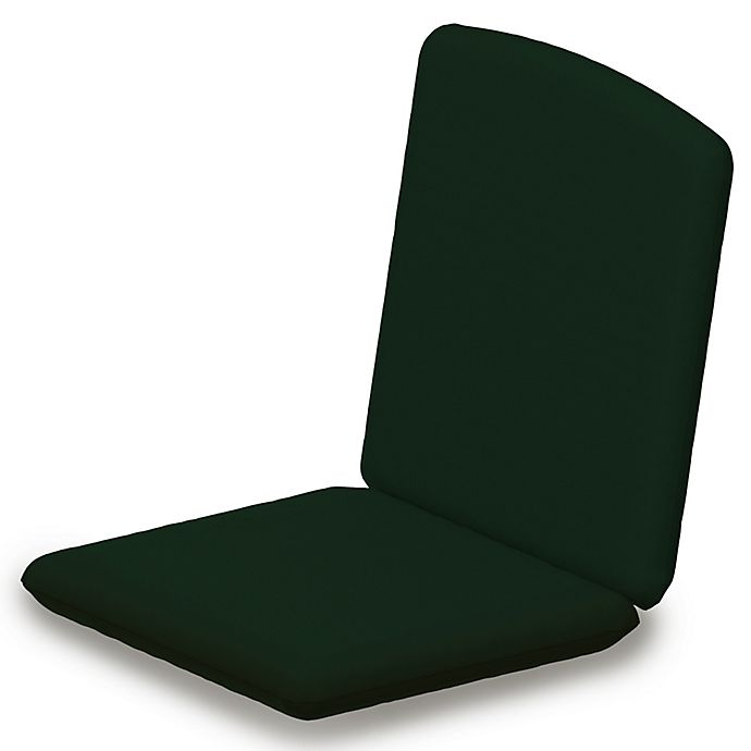 Alternate image 1 for POLYWOOD® Nautical Chair Cushion in Sunbrella® Forest Green