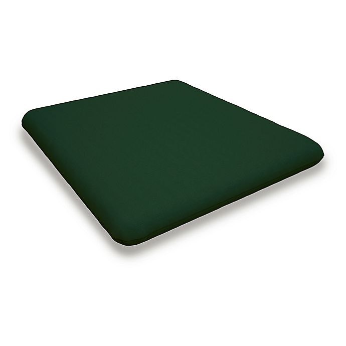 Alternate image 1 for POLYWOOD® Outdoor Nautical Chair Cushion in Forest Green