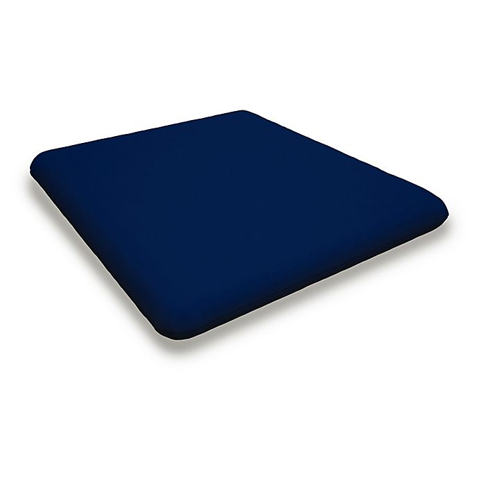 Alternate image 1 for POLYWOOD® Outdoor Nautical Chair Cushion in Navy