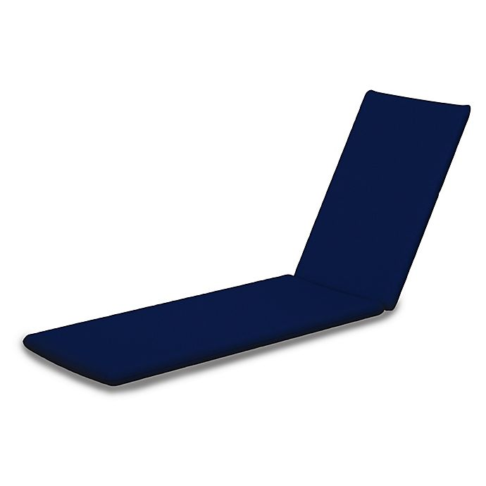 Alternate image 1 for POLYWOOD® Euro Outdoor Chaise Cushion in Sunbrella® Navy