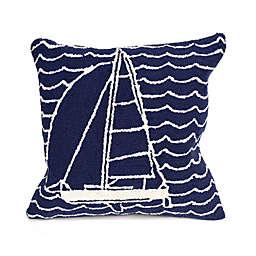 Liora Manne Frontporch Sails Square Indoor/Outdoor Throw Pillow