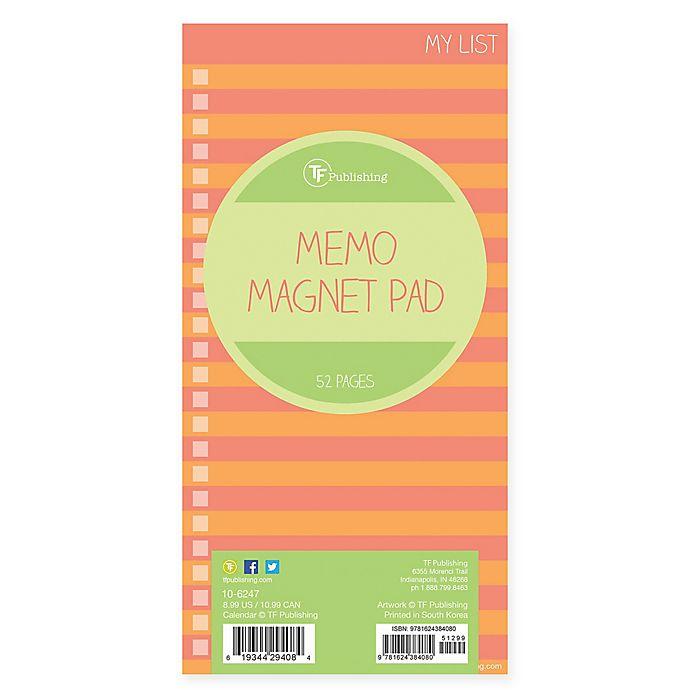 Alternate image 1 for TF Publishing Stripes Memo Magnet Pad