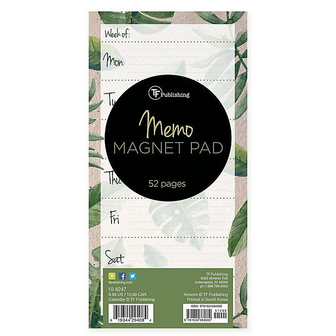 Alternate image 1 for TF Publishing Leaves Memo Magnet Pad