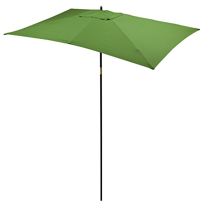 Buy 9 5 Foot Rectangular Hardwood Umbrella In Natural From