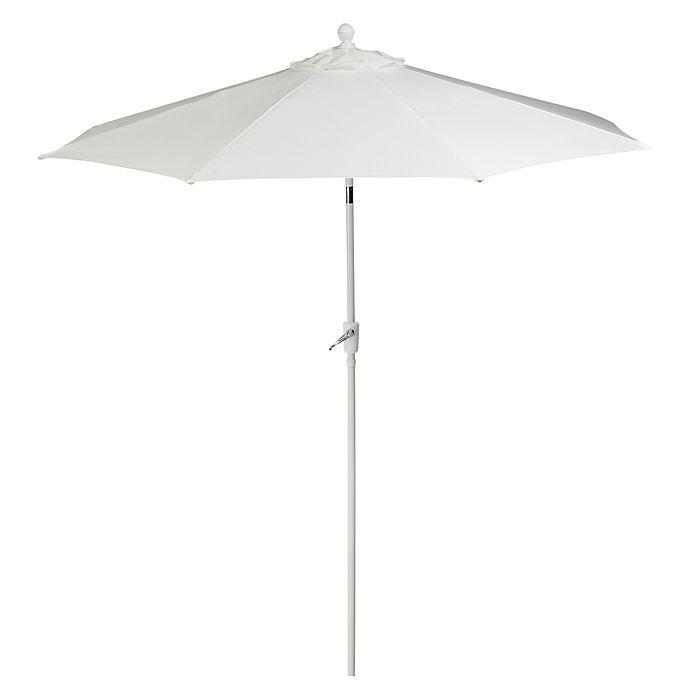 Alternate image 1 for 9-Foot Round Aluminum Patio Umbrella in White