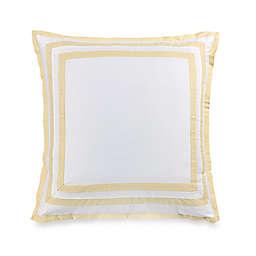 Wamsutta® Hotel Border MICRO COTTON® European Pillow Sham in White/Yellow