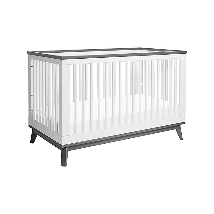 Alternate image 1 for Babyletto Scoot 3-in-1 Convertible Crib in White/Slate
