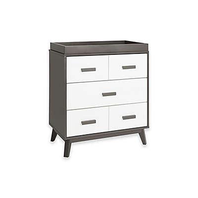 Babyletto Scoot 3-Drawer Changer Dresser in White/Slate