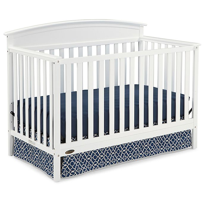 Alternate image 1 for Graco® Benton 4-in-1 Convertible Crib in White