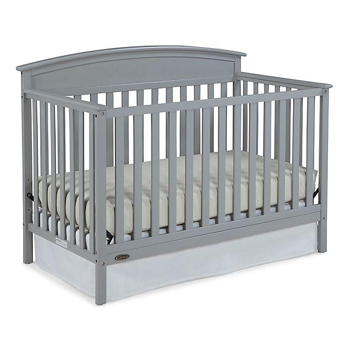 Alternate image 1 for Graco® Benton 4-in-1 Convertible Crib in Pebble Grey