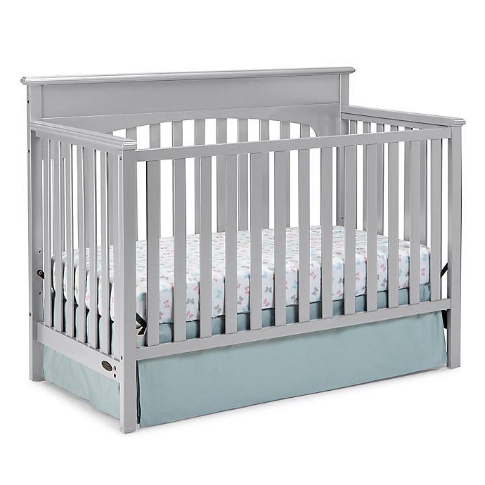Alternate image 1 for Graco® Lauren 4-in-1 Convertible Crib in Pebble Grey