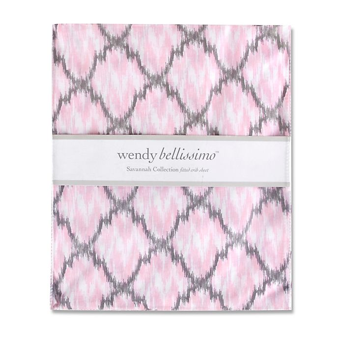 Alternate image 1 for Wendy Bellissimo™ Savannah Fitted Crib Sheet