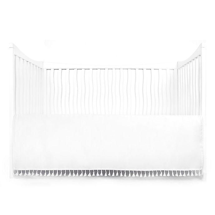Alternate image 1 for Tadpoles Crib Skirt with Tassels in White
