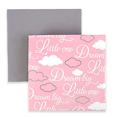 """Tadpoles """"Dream Big"""" Fitted Crib Sheets (Set of 2)"""