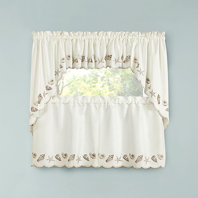 Seashells Kitchen Window Curtain Tiers