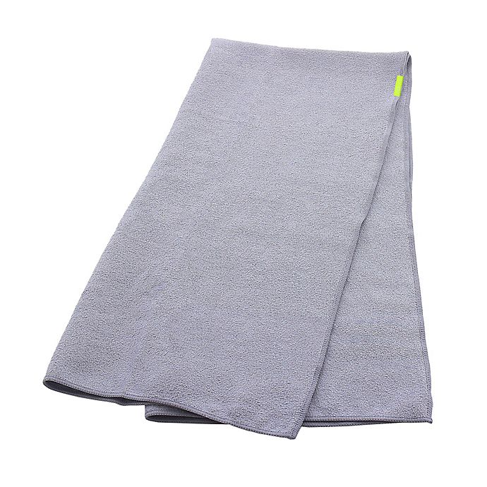 Alternate image 1 for Aquis® Lisse Long Hair Towel in Grey