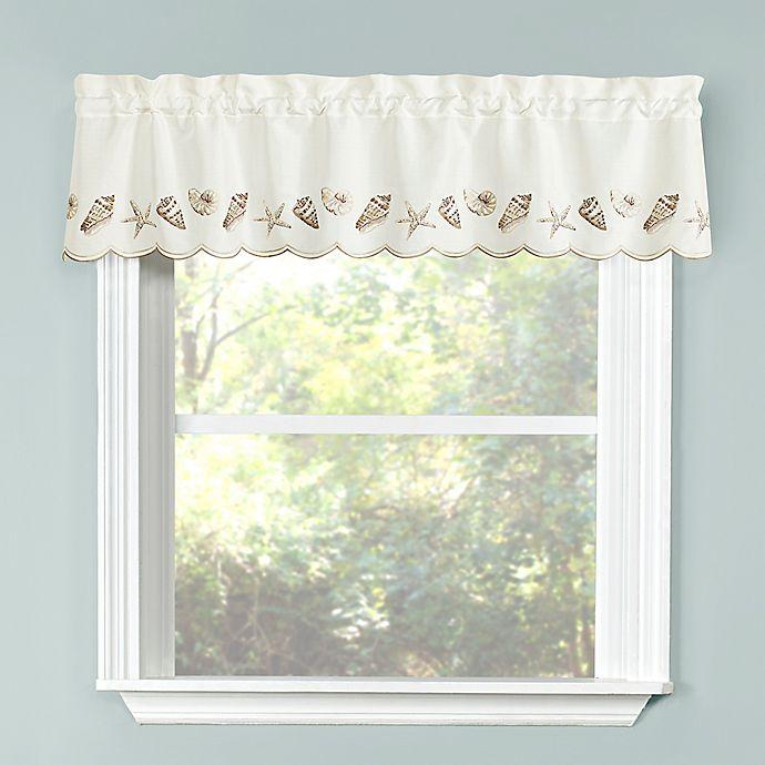 Alternate image 1 for Seashells Kitchen Window Valance in Natural
