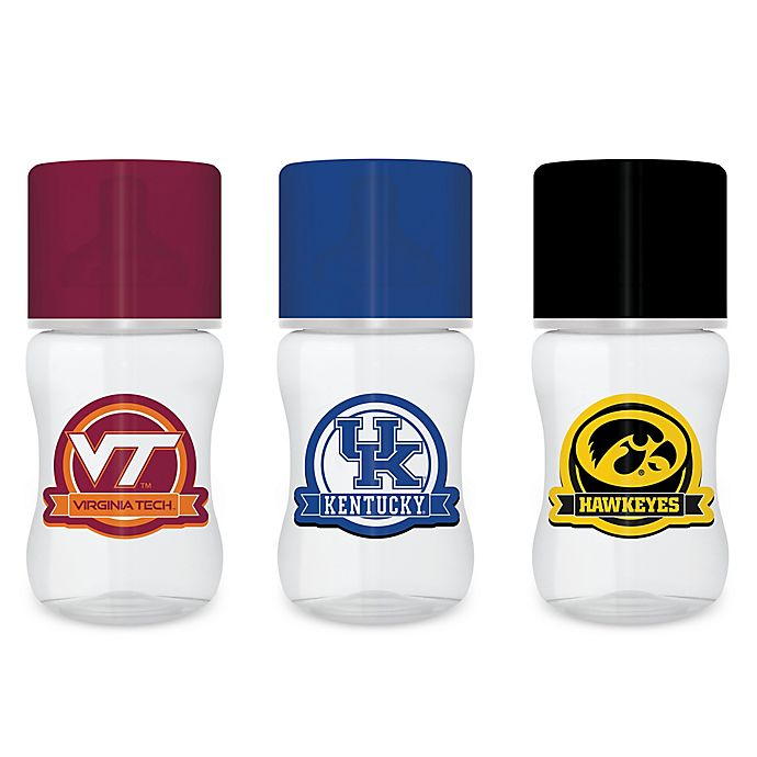 Alternate image 1 for Baby Fanatic Collegiate 9 oz. Polypropylene Standard-Neck Bottle Collection