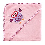 Luvable Friends® Owl Hooded Towel in Pink