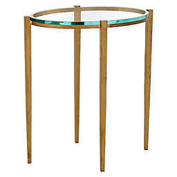 Global Views Studio A Home Petite Oval Iron and Glass Table