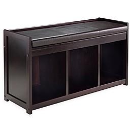 Winsome Addison Cushioned Storage Bench in Espresso