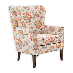 Madison Park Colette Arm Chair in Cream Floral Print