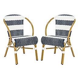 Safavieh Sarita Striped French Bistro Stacking Side Chair (Set of 2)