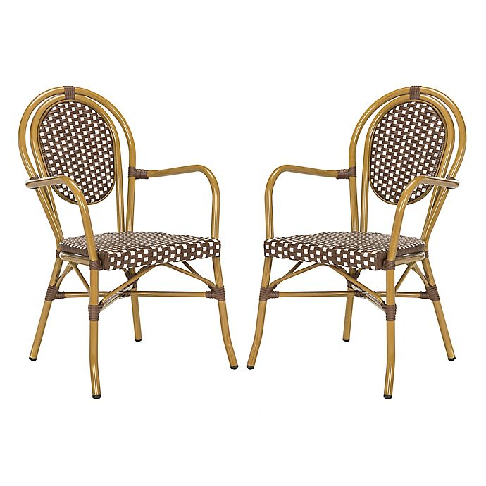 Bistro Cognac Brown Chair: Buy Safavieh Rosen French Bistro Stacking Arm Chair In