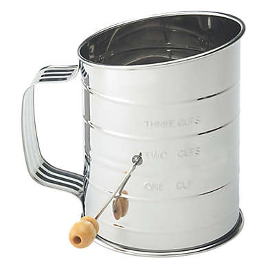 Mrs. Anderson's Baking® Hand Crank 3-Cup Flour Sifter in Stainless Steel