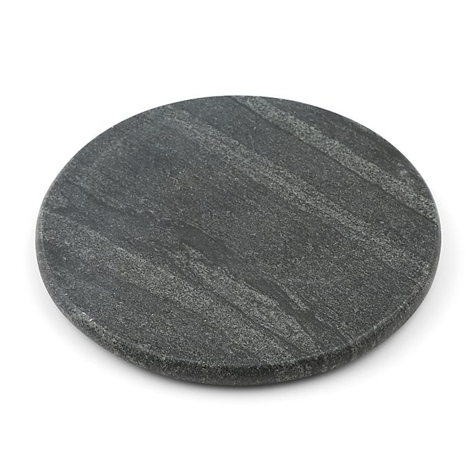 Alternate image 1 for Thristystone® Round Marble Trivet in Black