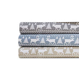 Woolrich® Winter Frost Cotton Flannel Sheet Set