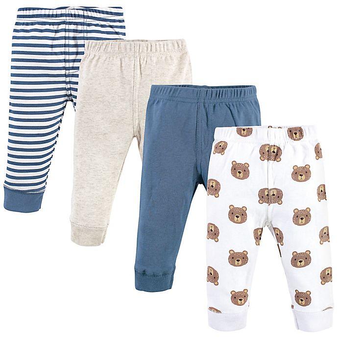 Alternate image 1 for Hudson Baby® 4-Pack Little Bear Pants in Blue