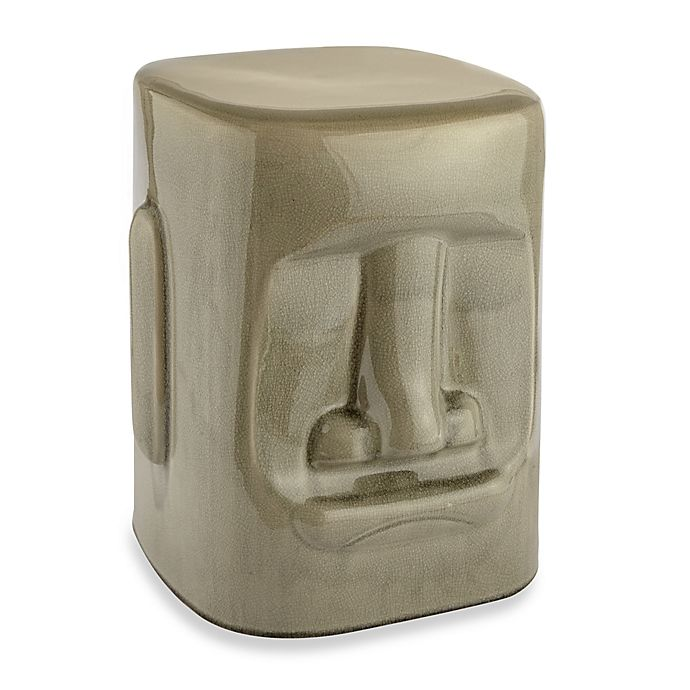 Tiki Ceramic Garden Stool In Grey Bed Bath And Beyond Canada