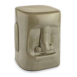 Tiki Ceramic Garden Stool in Grey
