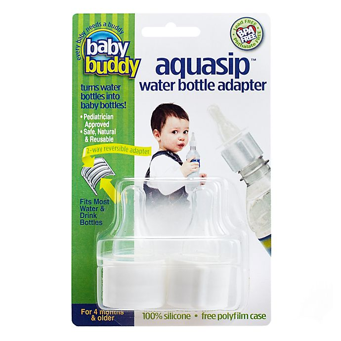 Alternate image 1 for Baby Buddy® AquaSip 2-Pack Stage 1 Water Bottle Adapters