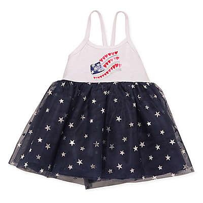 Baby Starters® Glitter Flag Dress in Navy